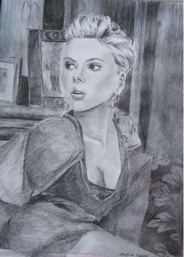 Scarlett Johansson by chamalow